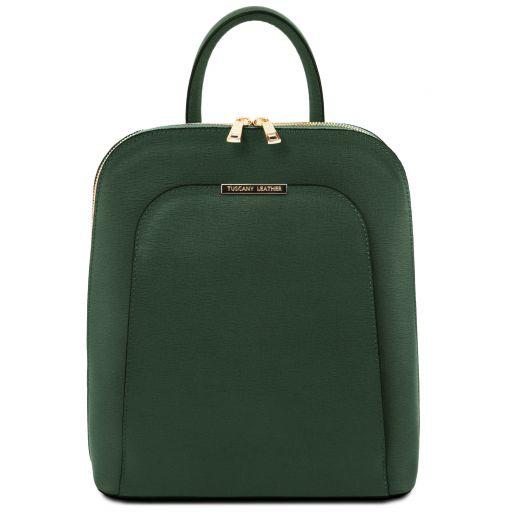 TL Bag Zaino donna in pelle Saffiano Verde Foresta TL141631