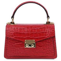 TL Bag Mini sac en cuir effet croco Rouge Lipstick TL141995
