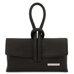 TL Bag Leather clutch Black TL141990