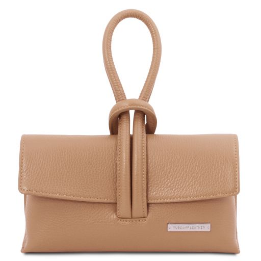 TL Bag Leather clutch Champagne TL141990