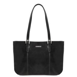 Annalisa Borsa shopping in pelle con due manici Nero TL141710