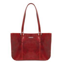 Annalisa Bolso shopping en piel con dos asas Rojo TL141710