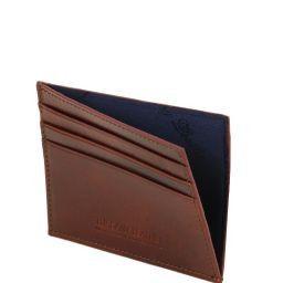 Esclusivo portacarte di credito in pelle Testa di Moro TL141494
