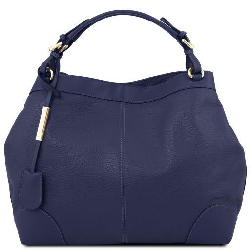 Ambrosia Sac shopping en cuir souple avec bandoulière Bleu foncé TL141516