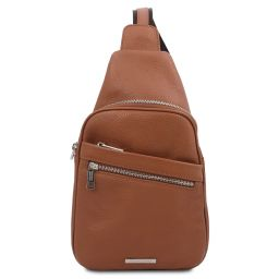 Albert Soft leather crossover bag Cognac TL142022