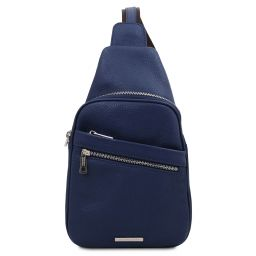 Albert Soft leather crossover bag Dark Blue TL142022