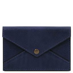 Leather business card / credit card holder Dark Blue TL142036