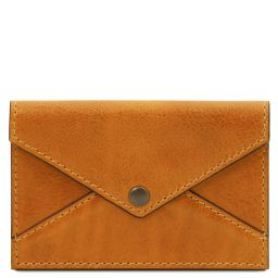 Leather business card / credit card holder Желтый TL142036