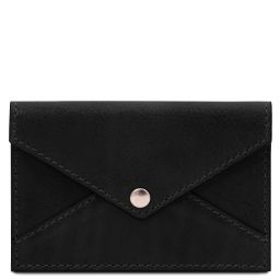 Leather business card / credit card holder Black TL142036