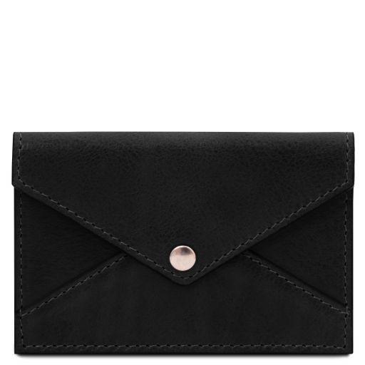 Leather business card / credit card holder Black TL142036