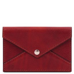 Leather business card / credit card holder Red TL142036