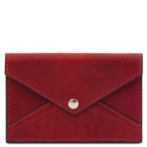 Porte-cartes de visite / cartes de crédit en cuir Rouge TL142036