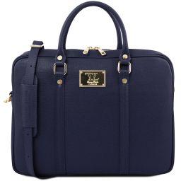Prato Exclusive Saffiano leather laptop case Темно-синий TL141626