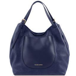 Cinzia Borsa shopping in pelle morbida Blu scuro TL141515