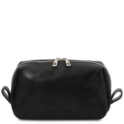 Owen Leather toilet bag Black TL142025
