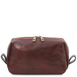 Owen Trousse de toilette en cuir Marron TL142025