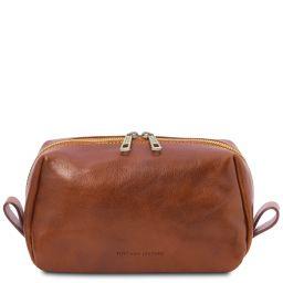 Owen Leather toilet bag Honey TL142025