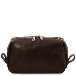 Owen Leather toilet bag Темно-коричневый TL142025