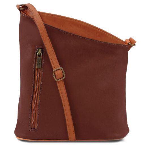 TL Bag Mini soft leather unisex cross bag Brown TL141111