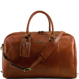 TL Voyager Travel leather duffle bag Honey TL141218