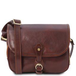 Alessia Leather shoulder bag Brown TL142020
