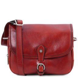Alessia Leather shoulder bag Red TL142020