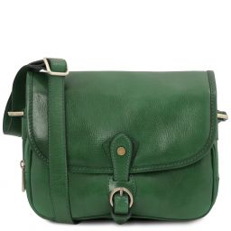 Alessia Leather shoulder bag Forest Green TL142020