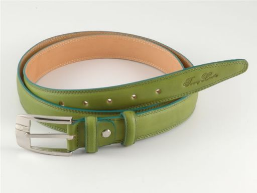 Esclusiva cintura in pelle Verde TL140316
