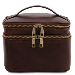 Eliot Leather toilet bag Dark Brown TL142045