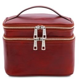 Eliot Leather toilet bag Red TL142045