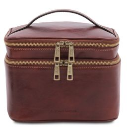 Eliot Leather toilet bag Brown TL142045