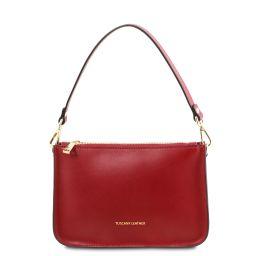 Cassandra Leather clutch handbag Red TL142038