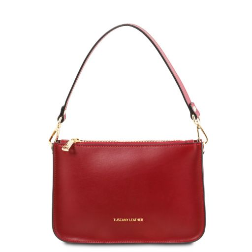 Cassandra Leather clutch handbag Red TL142038