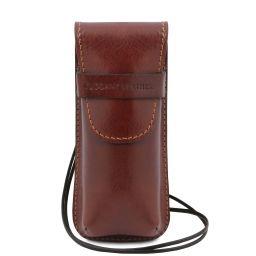 Эксклюзивный кожаный футляр для Очков/Смартфона Коричневый TL141282