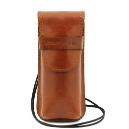 Exclusive leather eyeglasses/Smartphone/Watch holder Honey TL141282