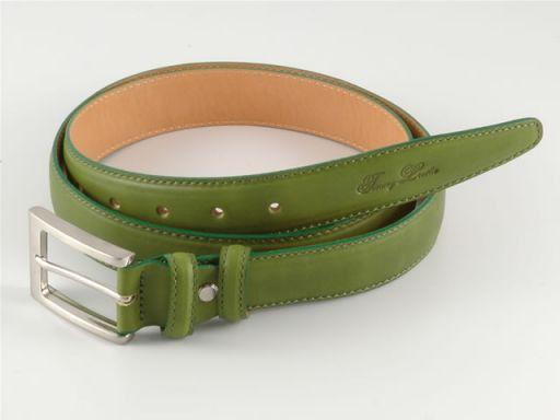 Esclusiva cintura in pelle Verde TL140317