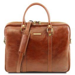 Prato Exclusive leather laptop case Honey TL141283