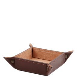 Exclusive leather valet tray small size Brown TL141272