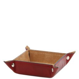 Exclusive leather valet tray small size Red TL141272