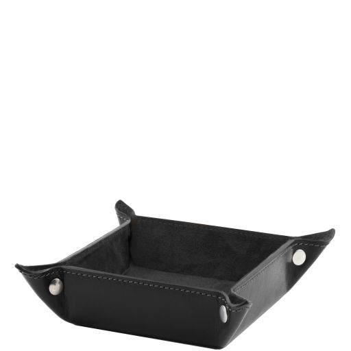 Exclusive leather valet tray small size Black TL141272