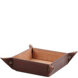 Elégant videpoches en cuir grand modèle Marron TL141271