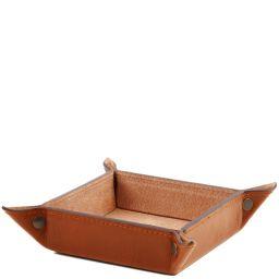 Эксклюзивный кожаный лоток для мелочей большая модель Мед TL141271