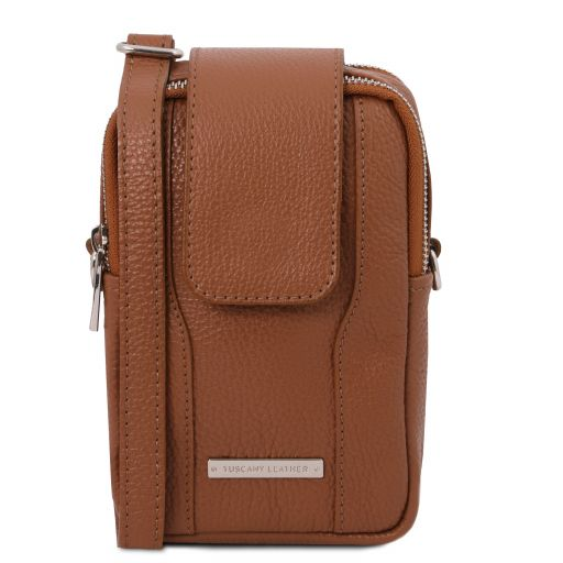 TL Bag Soft Leather cellphone holder mini cross bag Коньяк TL141698