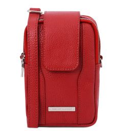 TL Bag Soft Leather cellphone holder mini cross bag Lipstick Red TL141698