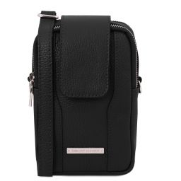 TL Bag Soft Leather cellphone holder mini cross bag Black TL141698