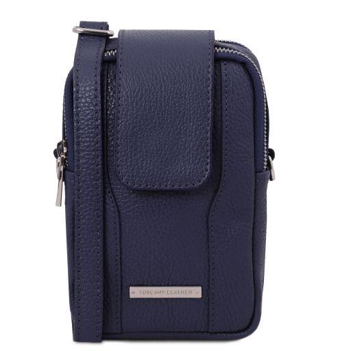 TL Bag Soft Leather cellphone holder mini cross bag Темно-синий TL141698