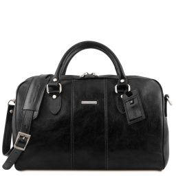 Lisbona Travel leather duffle bag - Small size Black TL141658