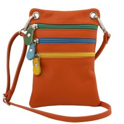 TL Bag Soft leather mini cross bag Orange TL141094