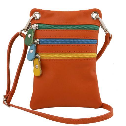 TL Bag Sac bandoulière en cuir souple Orange TL141094
