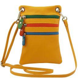 TL Bag Bolsillo unisex en piel suave Amarillo TL141094